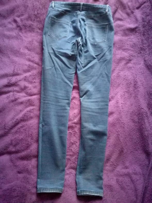 Spodnie Granatowe jeansowe rurki 40
