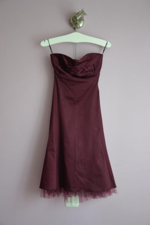 Suknie i sukienki burgundowa XS