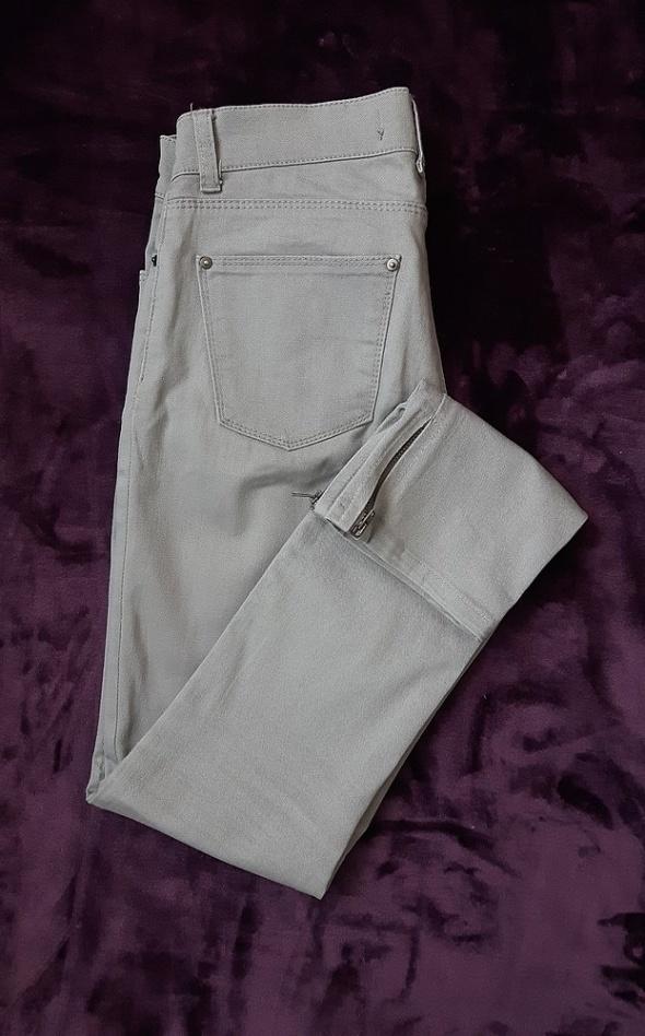 Spodnie szare S 36 ZARA z zamkami