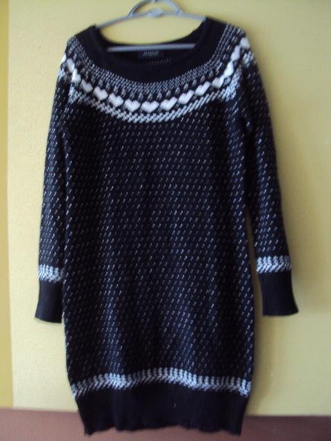 sweterkowa sukienka w norweskie wzorki...