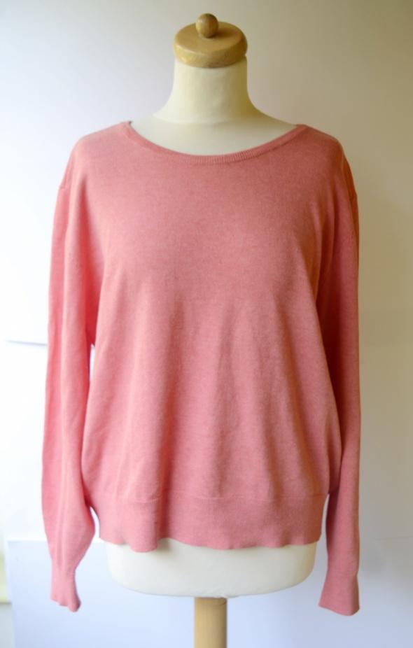 Sweter Oversize H&M Basic XL 42 Koralowy Luzny...