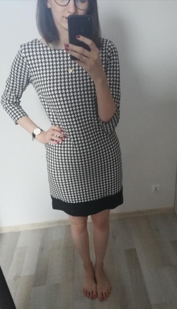Suknie i sukienki Prosta sukienka w pepitkę