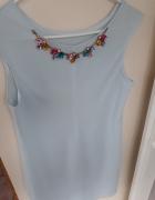 Błękitna sukienka z łańcuszkiem Uniwersalny