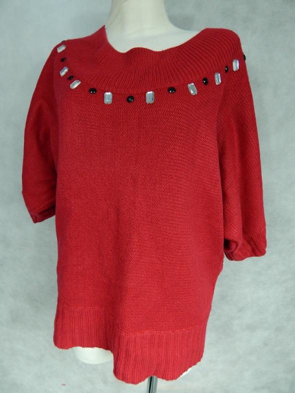 Rogers Luźny sweter z KMIENIAMI 46