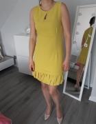 Sukienka musztardowa z łezką