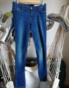Jeansy ZARA 40 L normalny stan niebieskie rurki niebieskie elas...