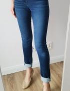 Spodnie jeansowe rurki H&M denim...
