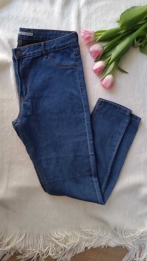 Granatowe spodnie SLIM