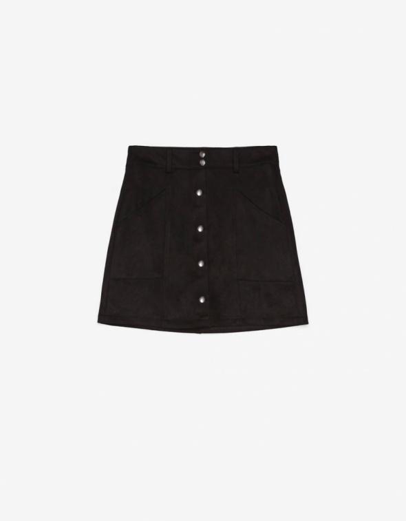 Spódnice Spódnica ze sztucznego zamszu na guziki