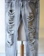 Spodnie Dziury Szare Rurki Jeans M 38 Silvian Heach...