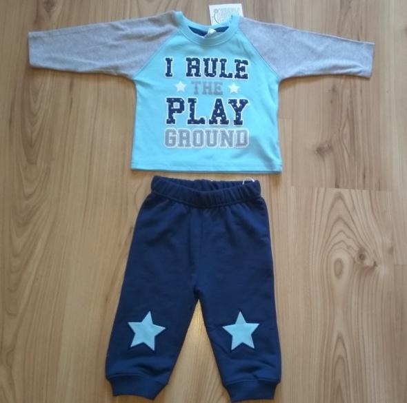 Nowe chłopięce niemowlęce dresy komplet bluza spodnie dresowe 6...