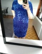 Śliczna nowa niebieska sukienka rozmiar 50 Darmowa wysył
