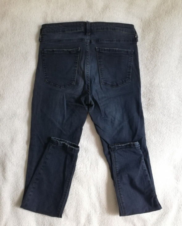 Granatowe jeansy ZARA M...