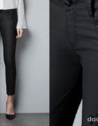 Spodnie rurki woskowe typu Biker XS Zara...