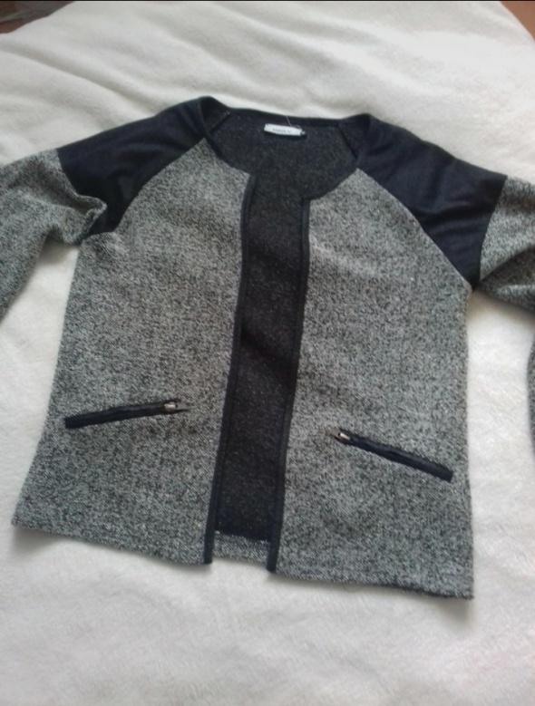 Sweterek narzutka kurteczka ONLY szara...