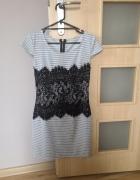 Sukienka w paski koronka vubu 36 S