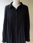 Koszula Czarna L 40 Bik Bok Plisowana Elegancka Plisa...