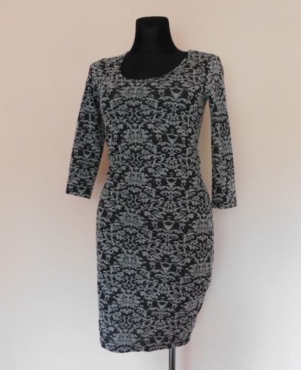 Amisu sukienka szara mini 36...