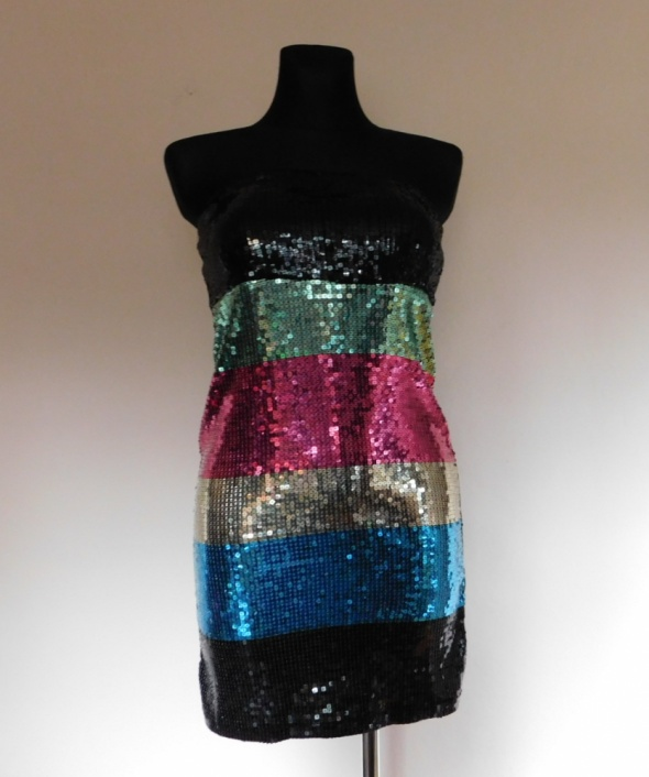 Suknie i sukienki Cubus sexy mini sukienka cekiny 38