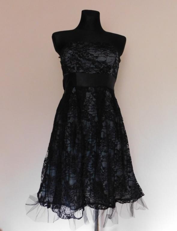 Suknie i sukienki Vila czarna sexy sukienka koronka 36