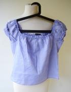 Bluzka Krótka Niebieska Hiszpanka Sisley S 36 Top Paski...