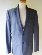 Garnitur H&M 52 Niebieski Elegancki Wizytowy Men...
