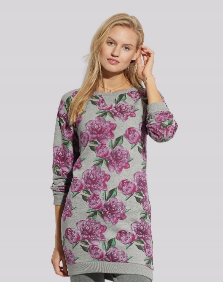 TOM&ROSE długa bluza tunika w kwiaty r 38 NOWA...
