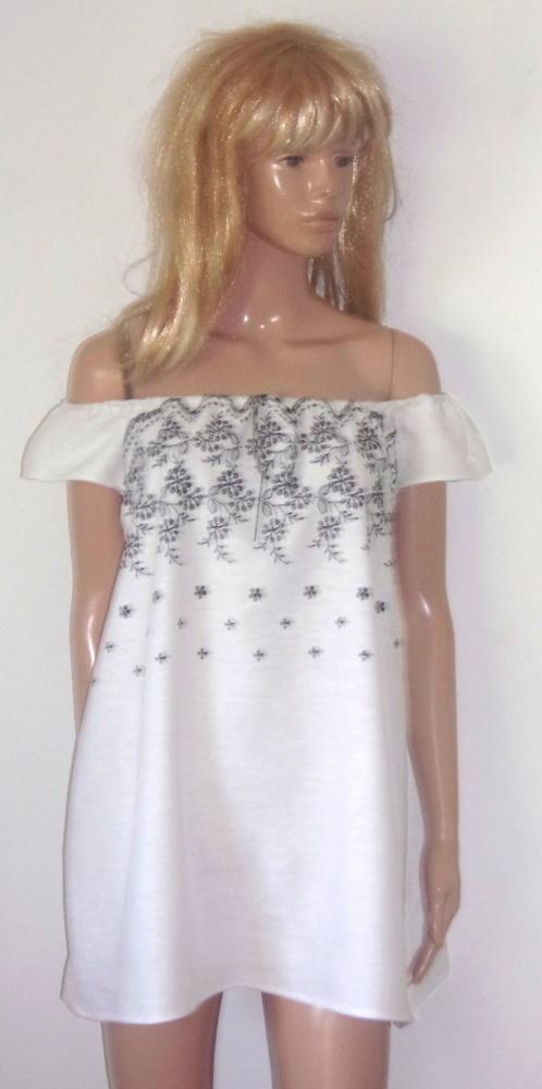 Sukienka Tunika Len Roz Uniwersalny...