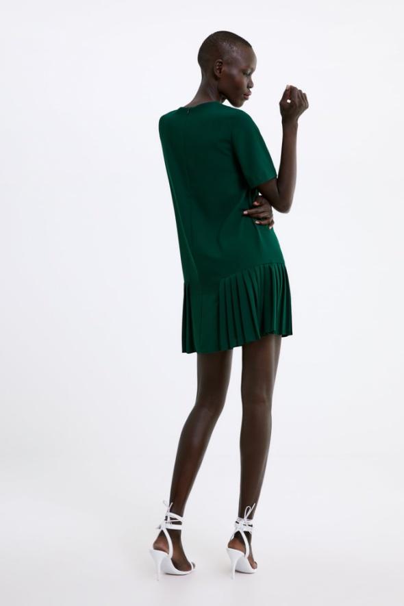 sukienka zara plisy czarna
