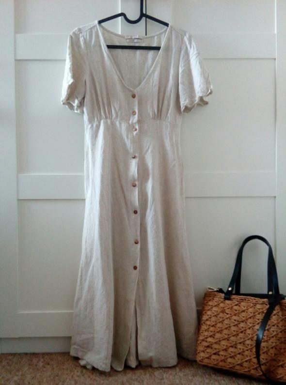 Nowa sukienka rustykalna boho len