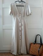Nowa sukienka rustykalna boho len...