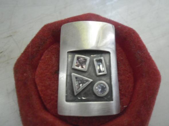 Ciekawy komplet srebrnej biżuterii zawieszka i kolczyki...