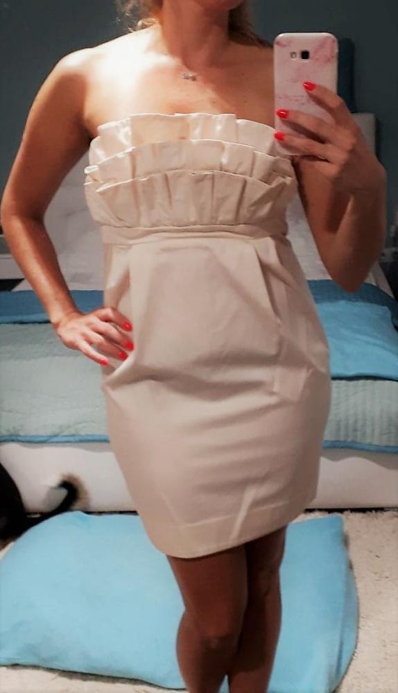 Jak nowa śliczna pudrowo różowa sukienka H&M 38 M...