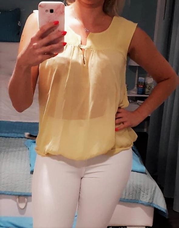 śliczna elegancka cytrynowa bluzeczka Zara 38 M...