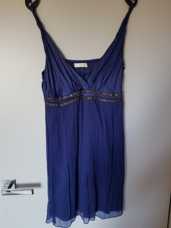 Granatowa sukienka Promod...