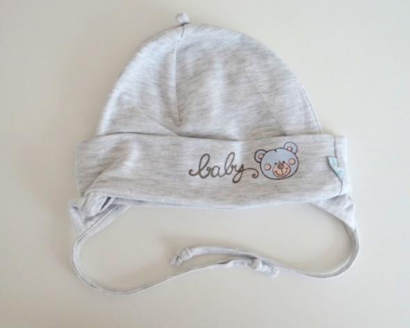 Szara wiązana czapka