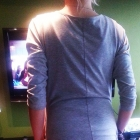 letnia sukienka dresowa z kieszeniami szara