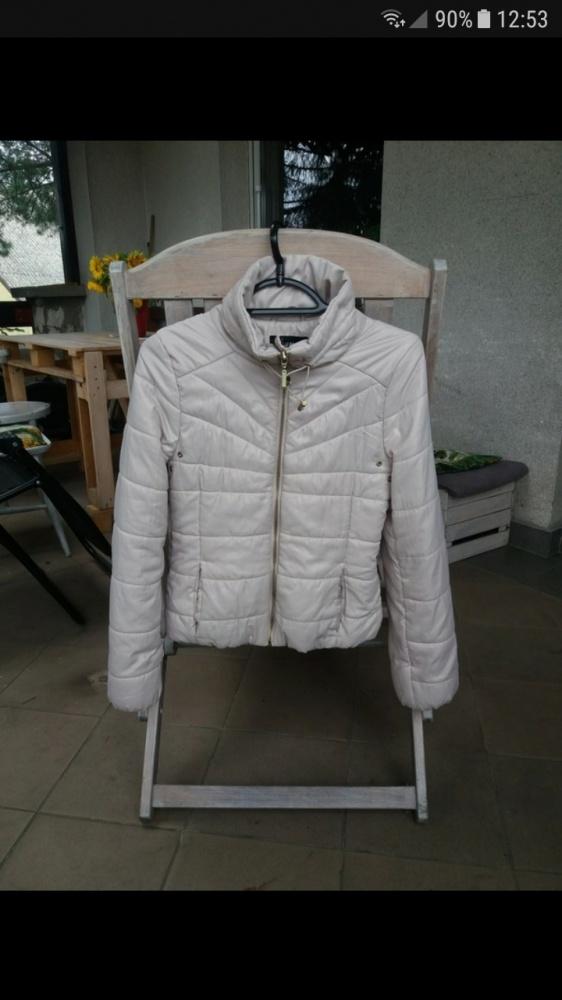 Kremowa krótka kurtka puchowa H&M 36