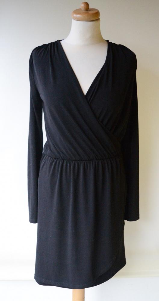 Sukienka Czarna XS 34 Gina Tricot Kopertowa Do Karmienia...