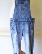 Ogrodniczki Jeansowe Cubus XS 34 Przetarcia Dziury Jeans...