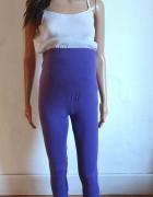 Fioletowe legginsy ciążowe r M