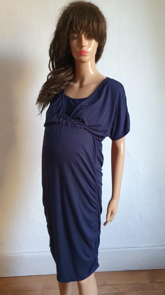 Granatowa sukienka ciążowa r M