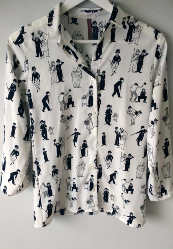 Prześliczna koszula oryginalna z Charlie Chaplin