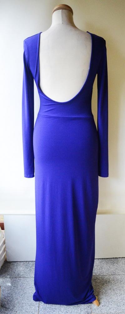 Sukienka Wesele Kobaltowa Gina Tricot M 38 Odkryte Plecy...