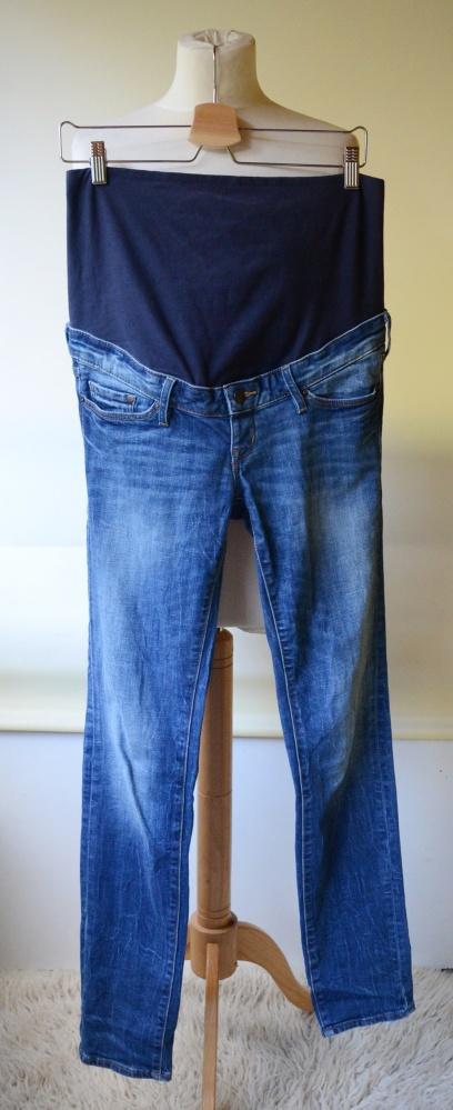 Spodnie Spodnie H&M Mama M 38 Ciążowe Jeans Slim Dzinsowe