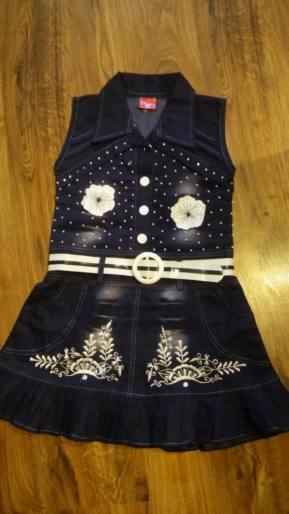 Sukienki i spódniczki Granatowa z koralikami 128