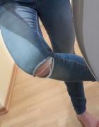 spodnie z dziurami skinny...