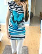 tunika sukienka z motylem...