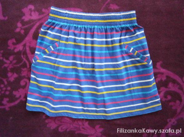 Spódnice niebieska spódniczka w paski
