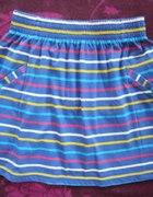 niebieska spódniczka w paski...